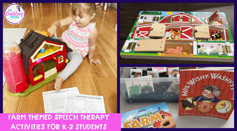 Farm Themed Speech Therapy Toys & Materials