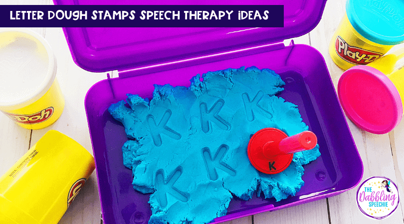 Using Letter Stamps in Speech Therapy