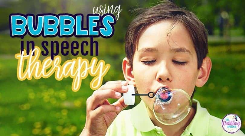 Using bubbles in speech therapy
