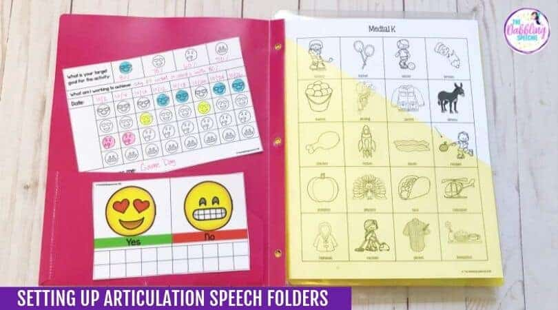 Setting Up Articulation Speech Folders For Students