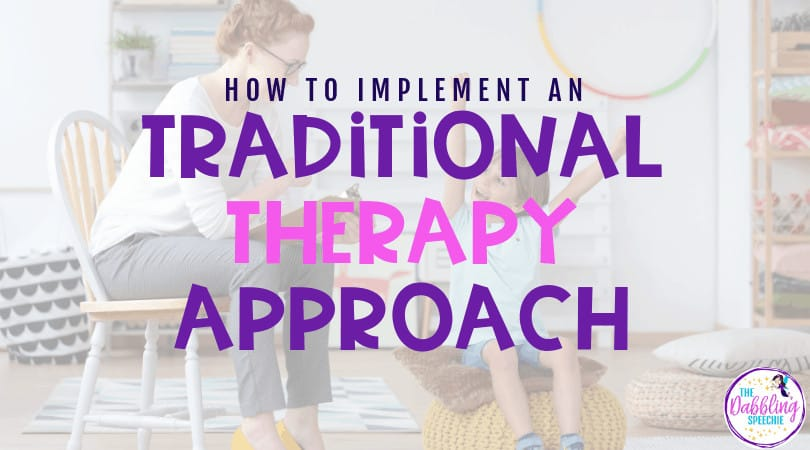 What is the Traditional Therapy Approach?