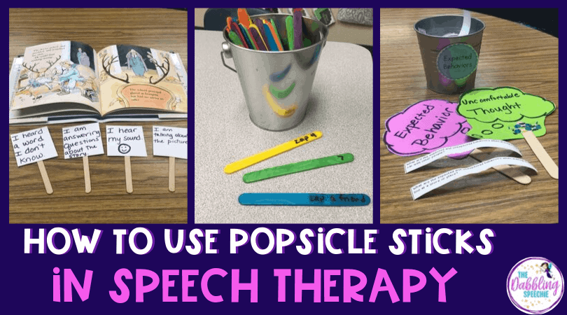 Using Popsicle Sticks in Speech Therapy