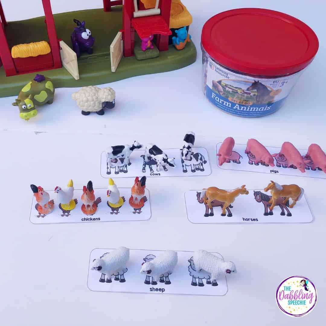 toy farm in speech therapy
