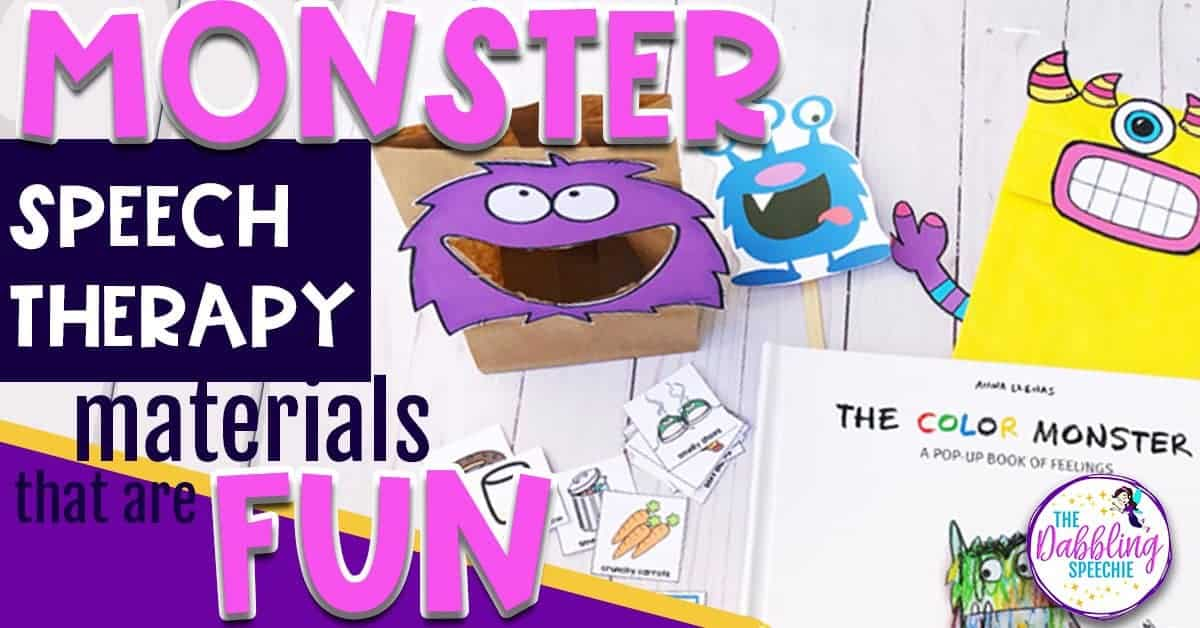 Monster Speech Therapy Materials That Are Fun!