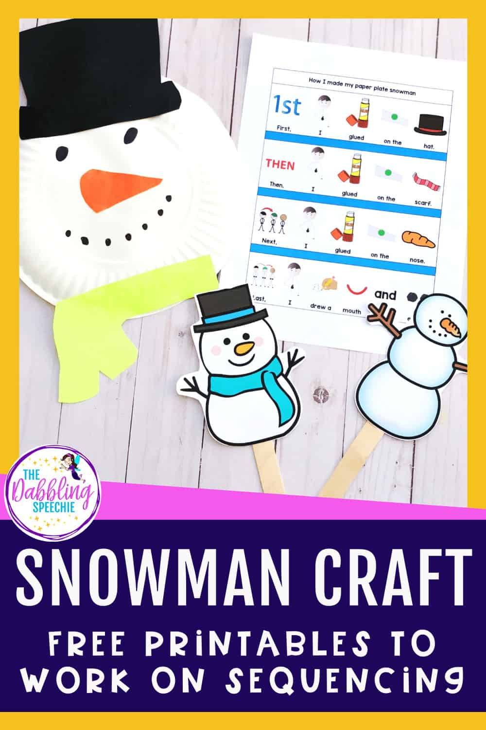 Paper Plate Snowman Craft for your Mod-Severe Students