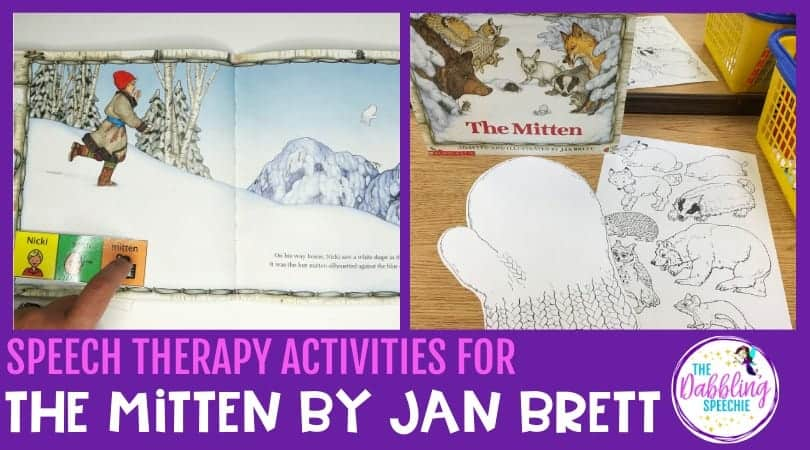 The Mitten Speech Therapy activities to build language #slpeeps #schoolslp #themitten #preschool #preschoolslp #speechtherapy #oralnarration #storyretell #vocabularyactivities #winteractivities #cfyslp #speechies #slp2b #sped #pediatricslp #schoolslp #schoolbasedslp #vocabularyactivities