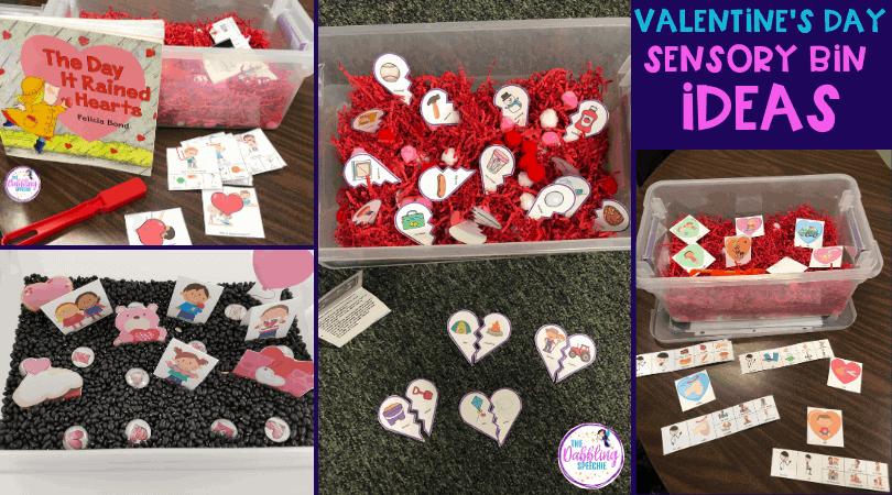 Valentine's Day Sensory Bin Ideas