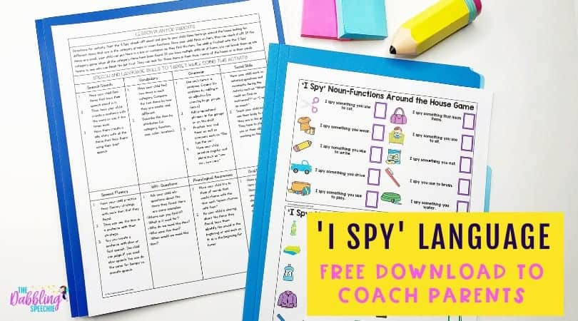 'I Spy' language game to use to build vocabulary while homeschooling.