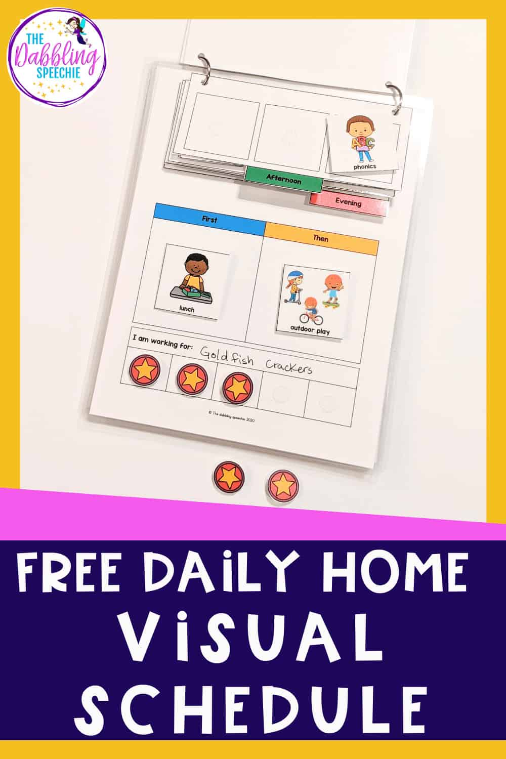 Need a daily home schedule for your child with Autism. Grab this free visual schedule to help your child navigate the day with ease!