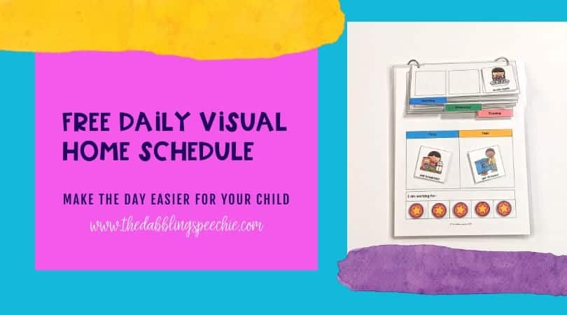 Free Daily Home Visual Schedule