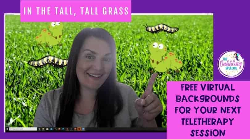 In the Tall, Tall Grass Teletherapy Activity