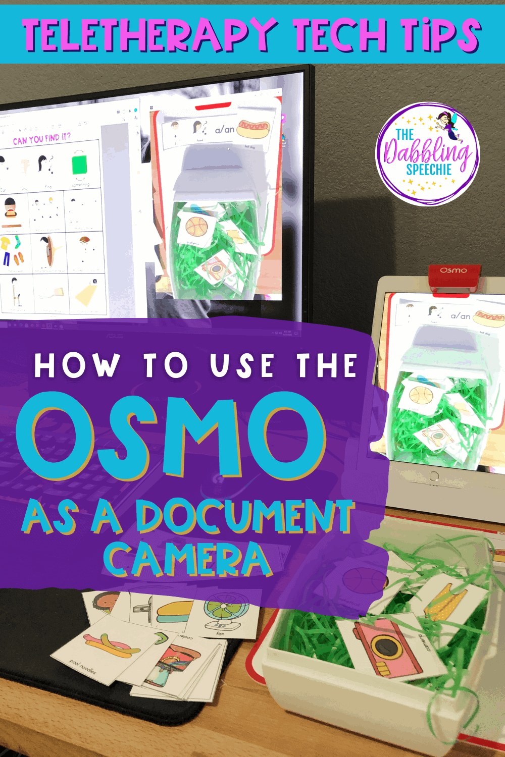 OSMO speech therapy ideas for using it as a document camera