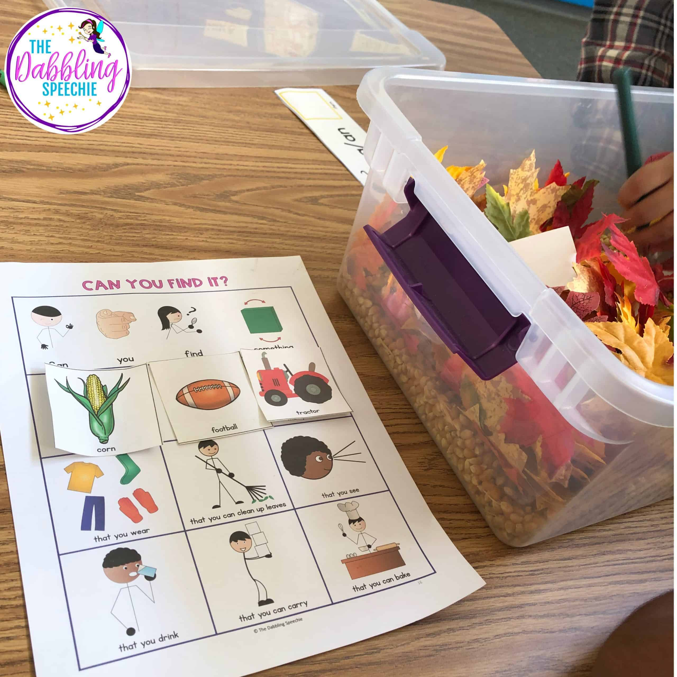 Using sensory bins with the OSMO in speech therapy