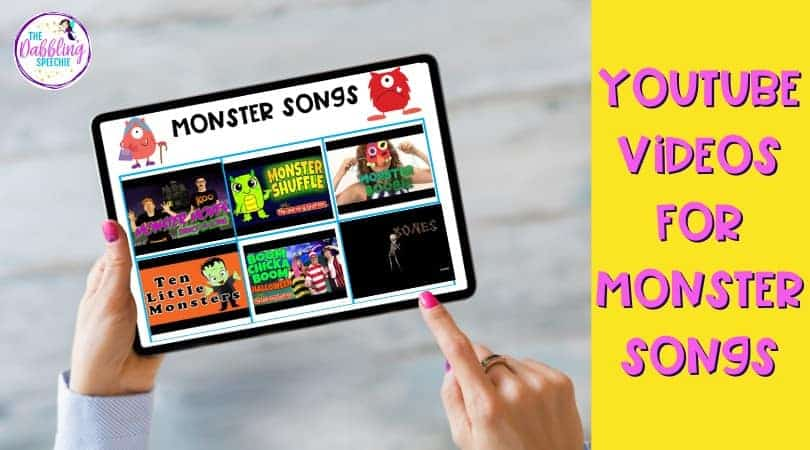 Digital Monster activities using YouTube videos