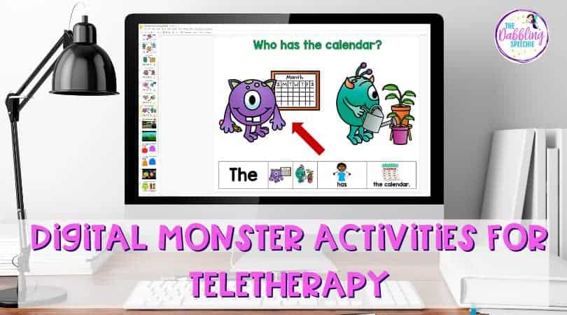 Digital Monster Activities for Teletherapy