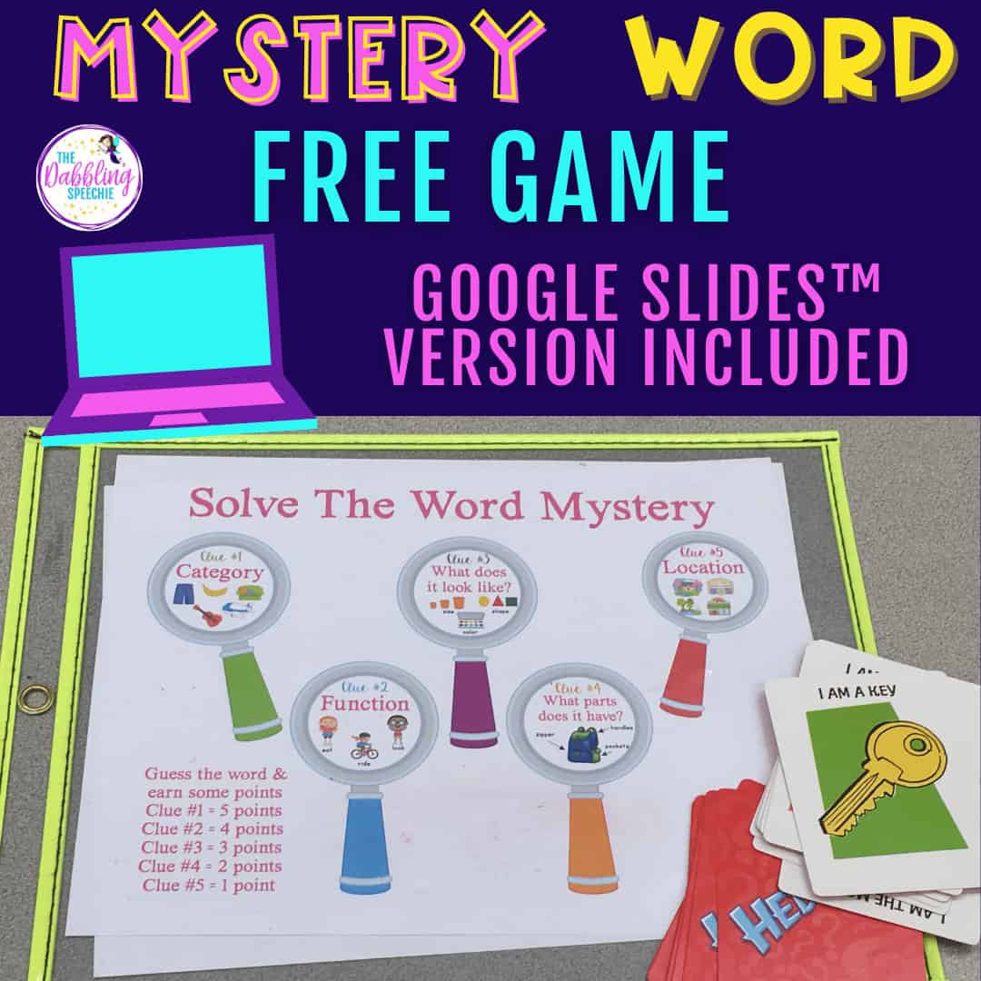 speech therapy language games for mixed groups