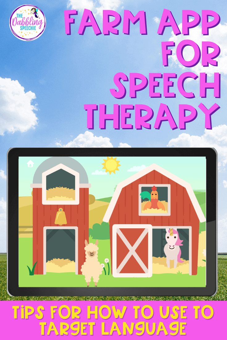 digital farm animal activities to use in speech therapy