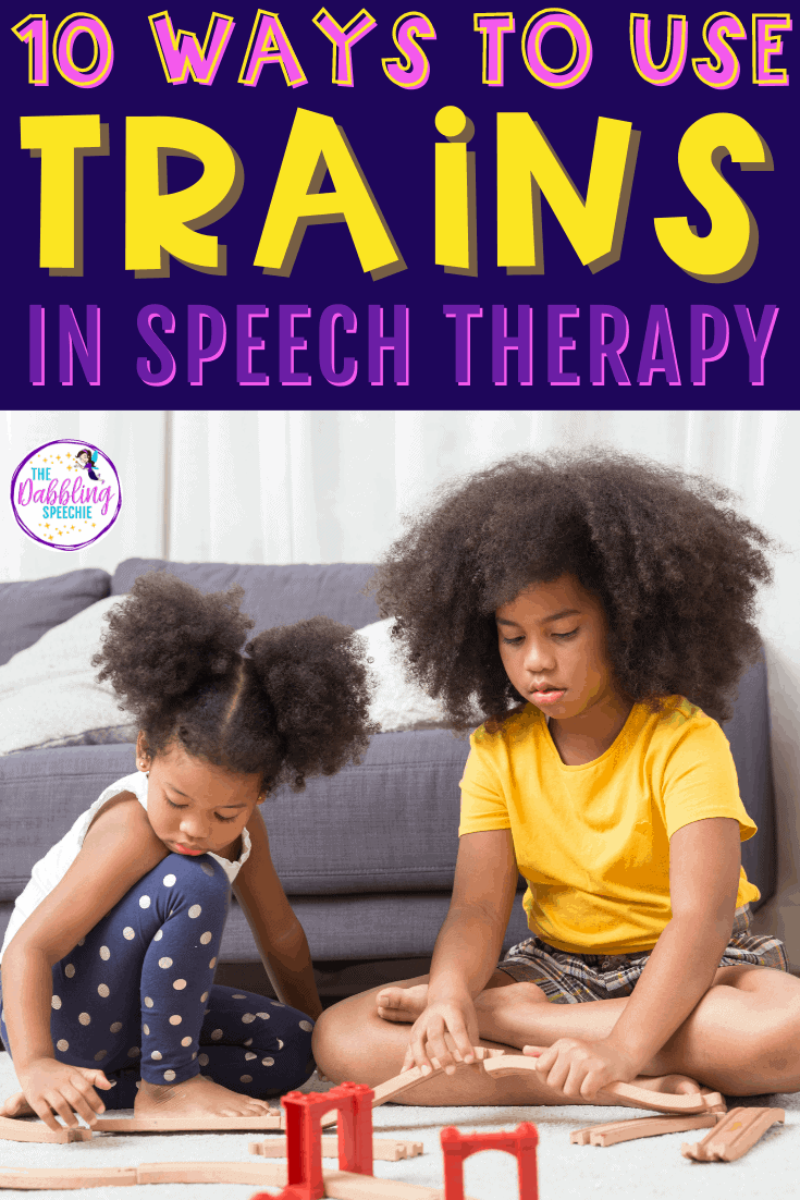 10 ways to use a toy train set in speech therapy