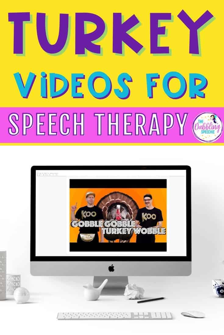 Turkey Videos for Speech Therapy to use in teletherapy