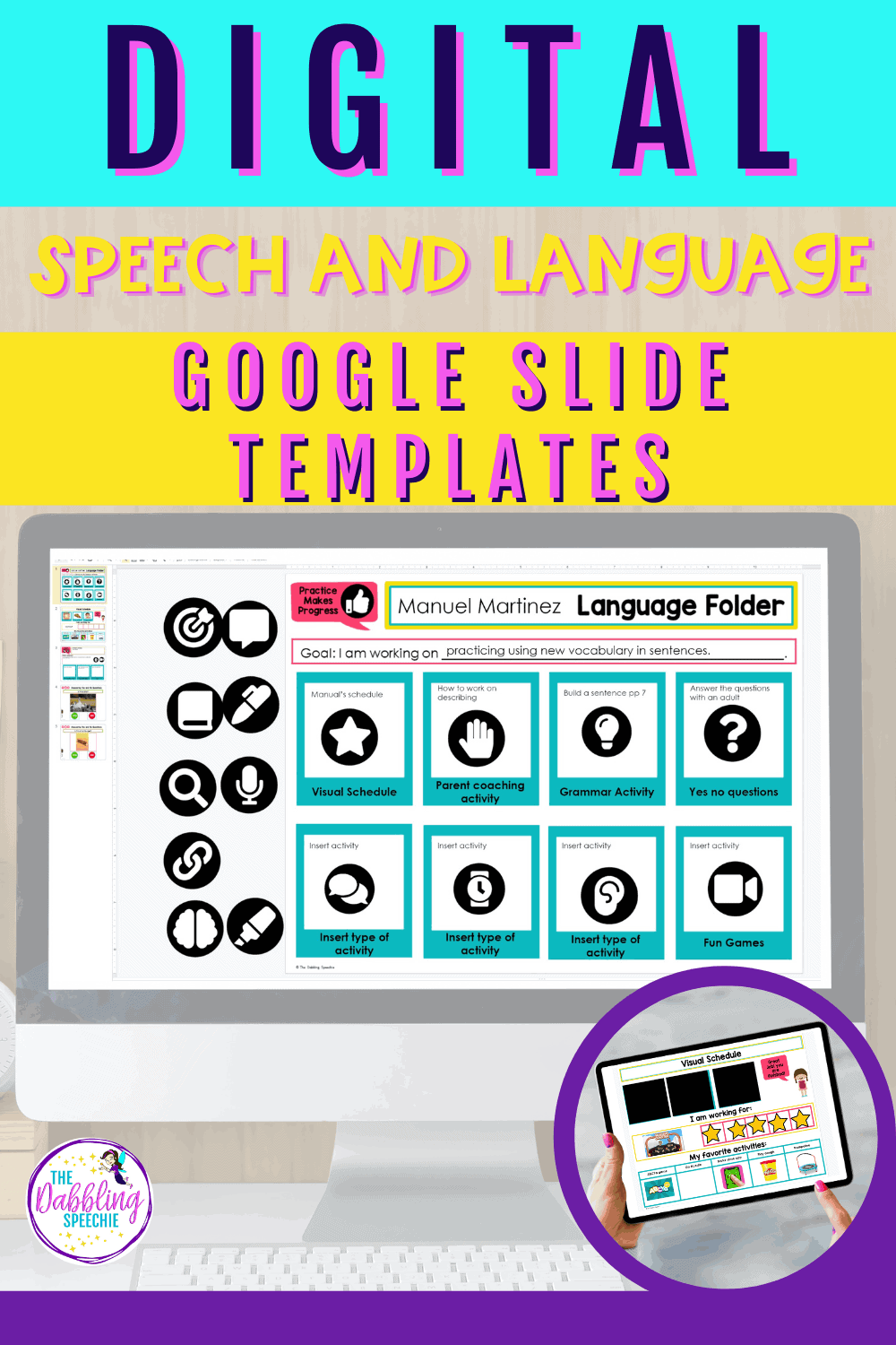 Google Slides video hack for making speech therapy materials