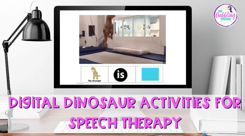 Engaging Digital Dinosaur Activities for Speech