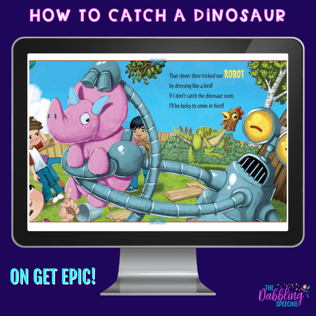 Digital dinosaur activities for speech therapy