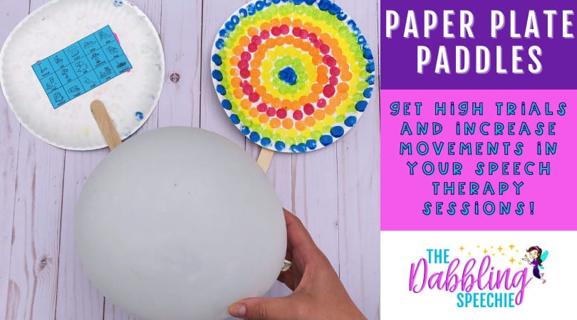 Get high trials with this paper plate paddle in speech therapy!