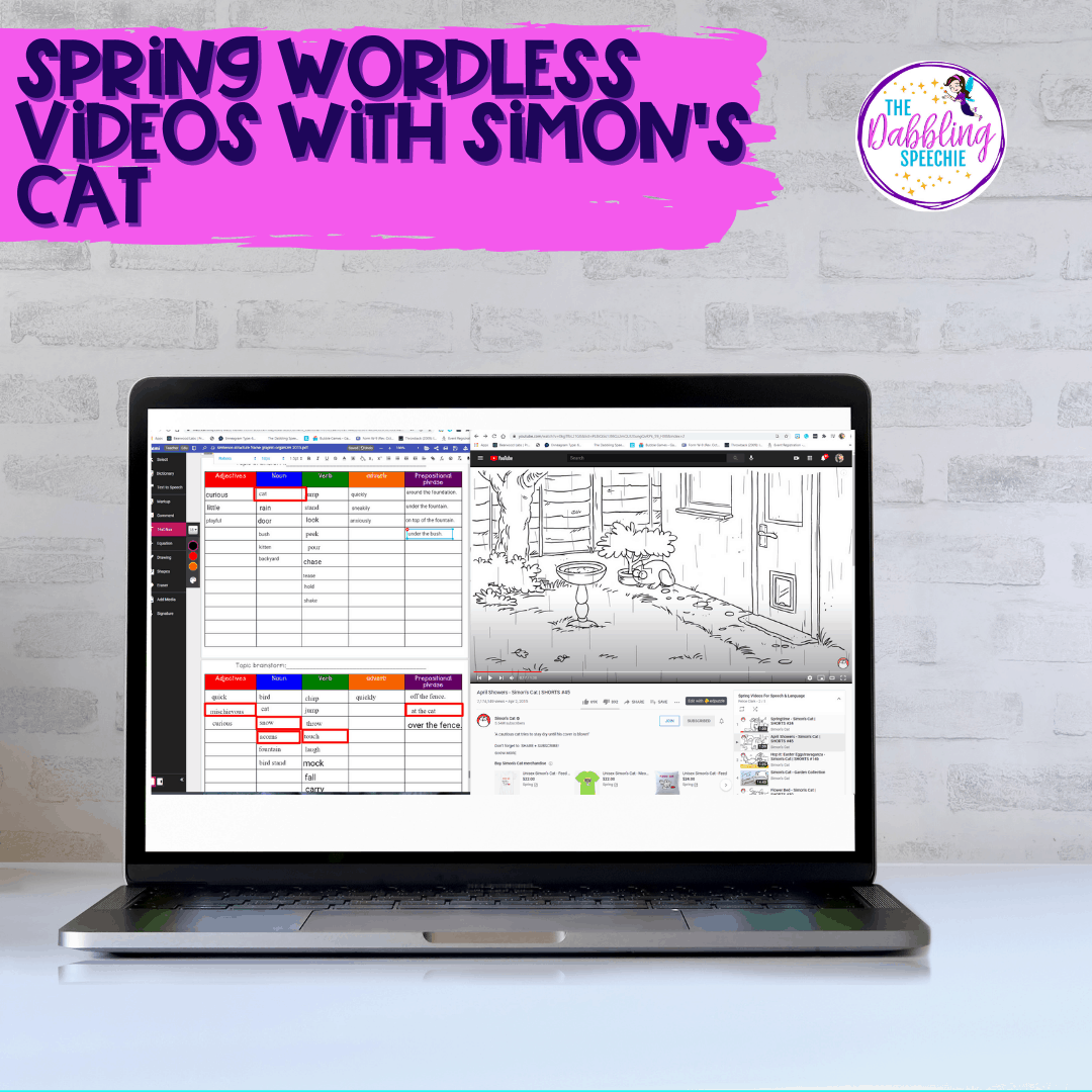 Using the best spring YouTube videos with the Kami chrome extension in speech therapy or teletherapy