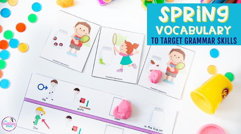 Using spring vocabulary to teach grammar