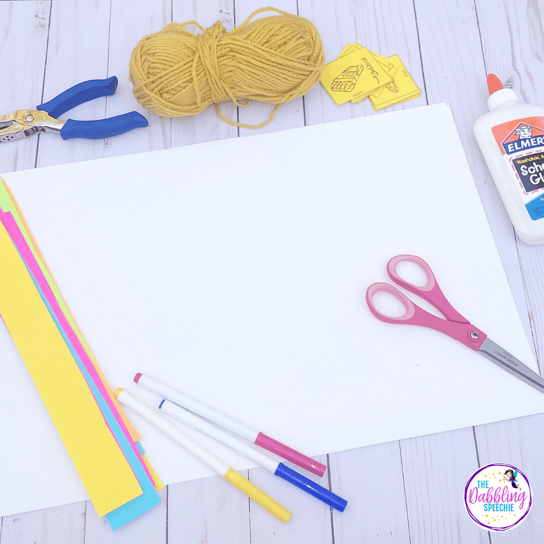 Make this easy to prep windsock craft for kids and target speech and language goals in your mixed groups.
