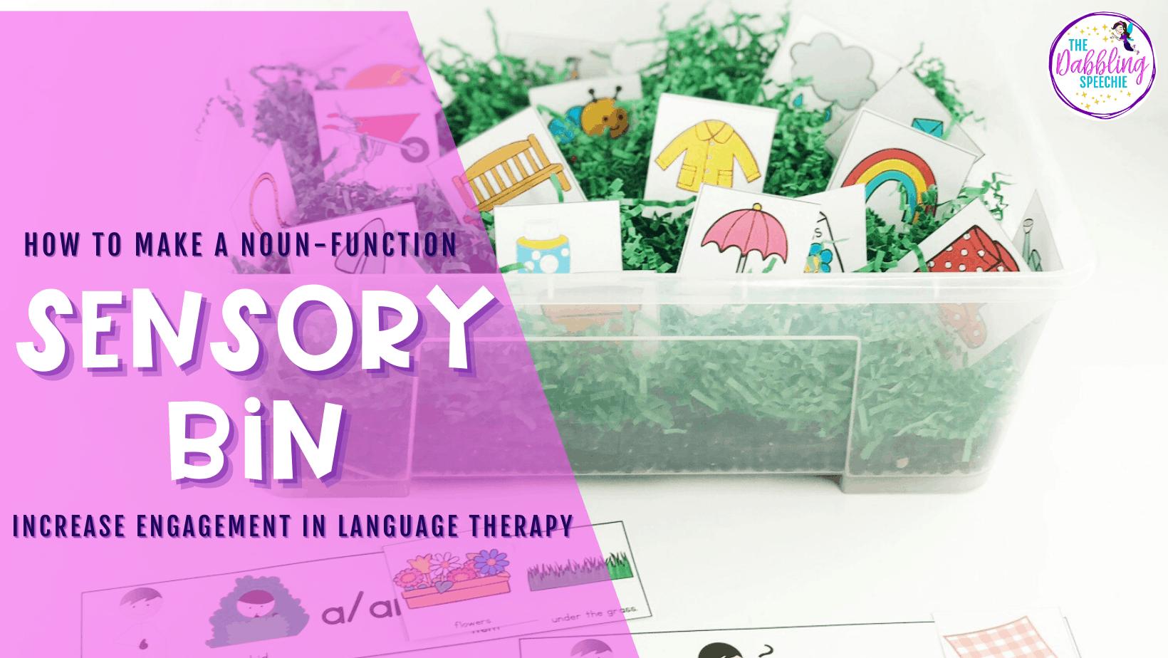 Noun-Function Sensory Bins