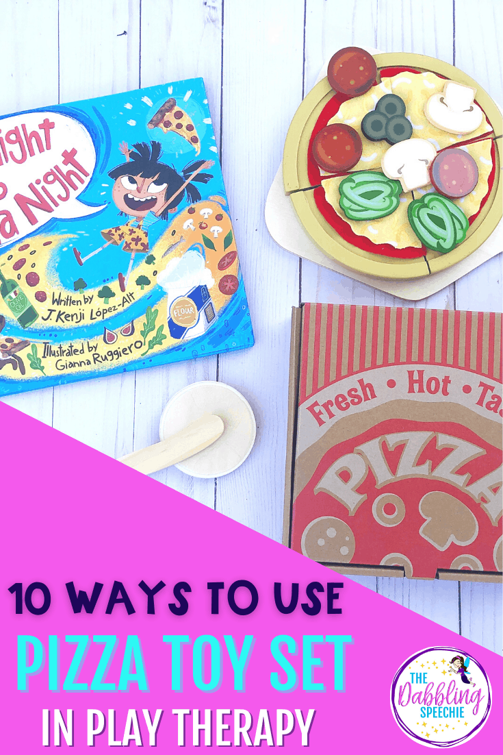 Incorporate a pizza toy set into your speech therapy sessions to increase engagement and opportunities for meaningful practice on speech and language goals.