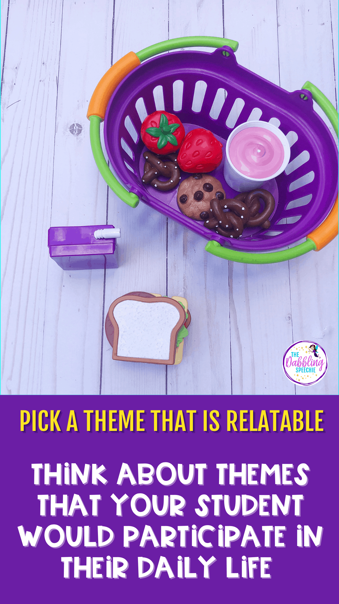 Check out these 4 tips to help you pick a great theme for your caseload that can be adapted across all of your grade levels. Save hours of planning time by using themed therapy materials to cover your wide range of goals!