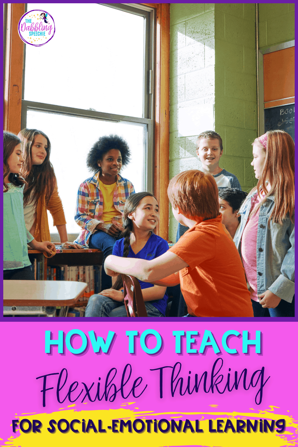 Lesson plan ideas for teaching flexible thinking in pragmatic language therapy to help build social-emotional learning in your speech therapy sessions.