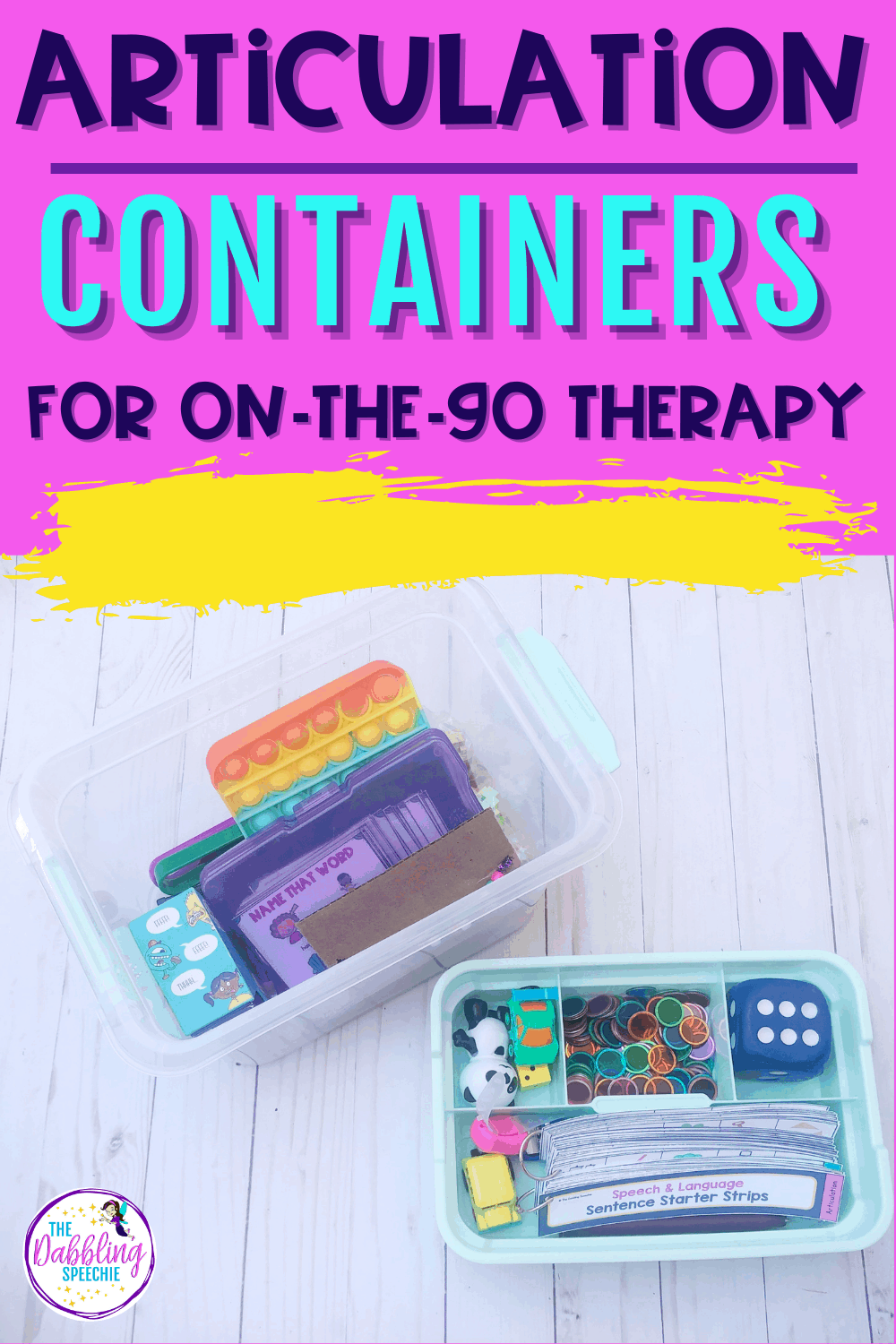 Check out how to setup your articulation on-the-go containers to make planning therapy easier.