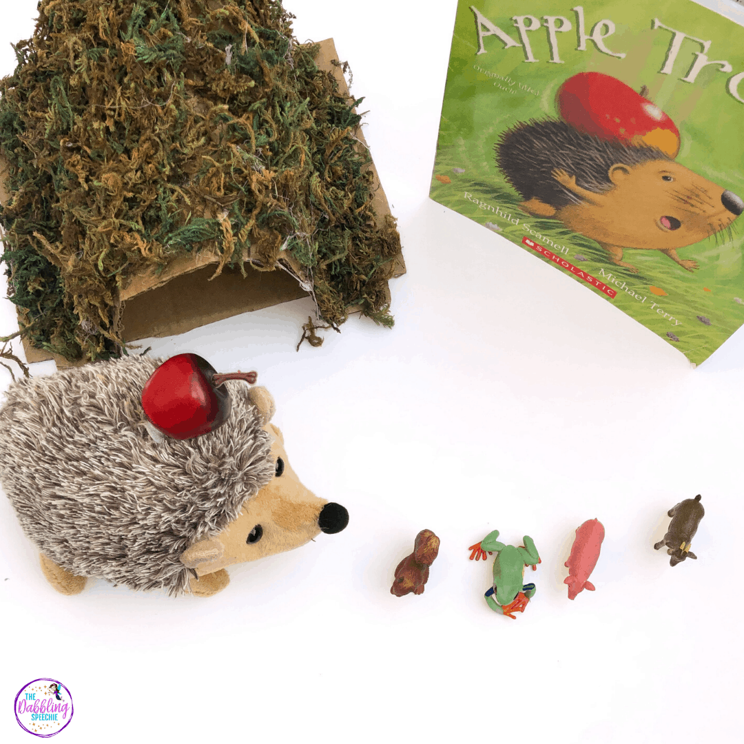 Apple Trouble Story Prop Kit to use in speech therapy