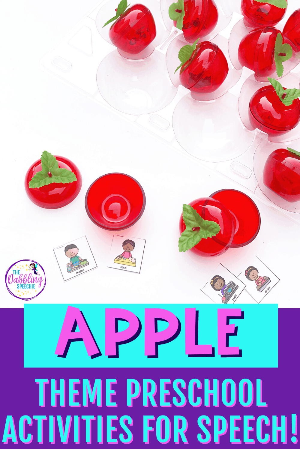 Apple theme preschool lesson plans that you can use for speech therapy