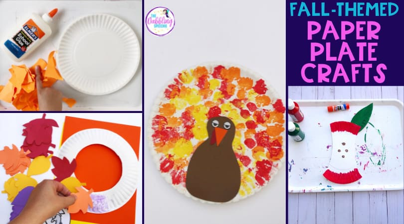 Easy Fall Paper Plate Crafts for Speech!